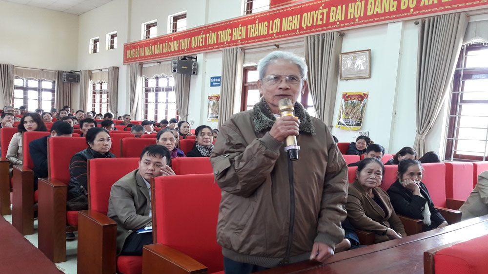 Đại biểu HĐND tỉnh, huyện tiếp xúc với cử tri  xã Cảnh Thụy