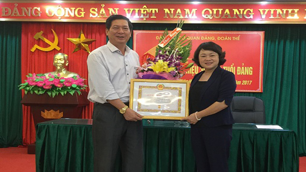 Hiệp Hòa trao Huy hiệu Đảng cho hơn 1,5 nghìn đảng viên