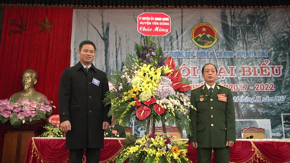 Đại hội thành lập Hội truyền thống Trường Sơn- đường Hồ Chí Minh huyện Yên Dũng