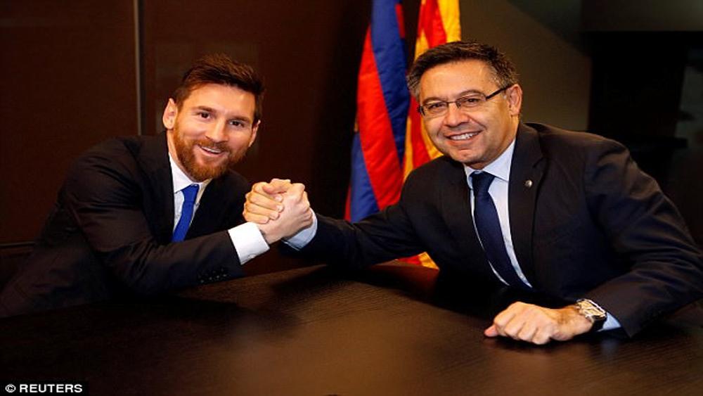 Mức lương 500.000 bảng/tuần vẫn ít so với tầm vóc của Messi
