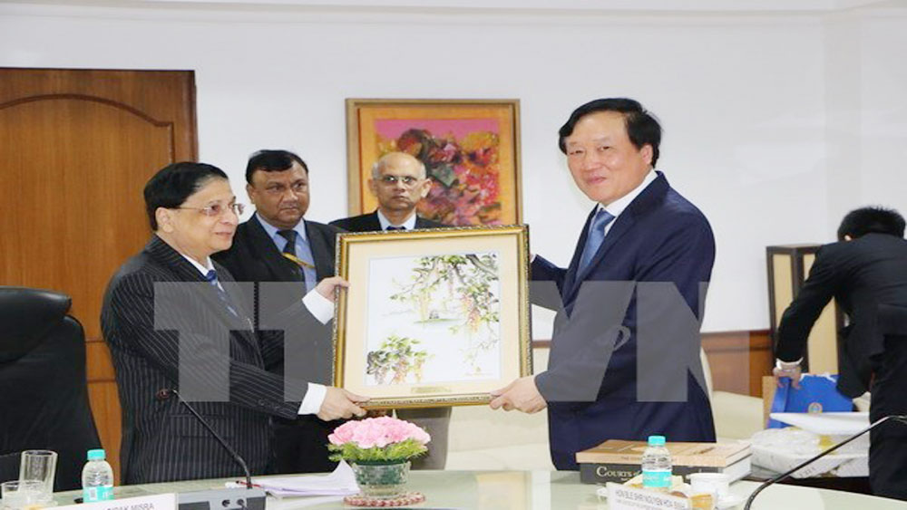 Vietnam, India step up judicial cooperation