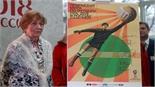 """""""Nhện đen"""" Lev Yashin nổi bật trên poster chính thức World Cup 2018"""