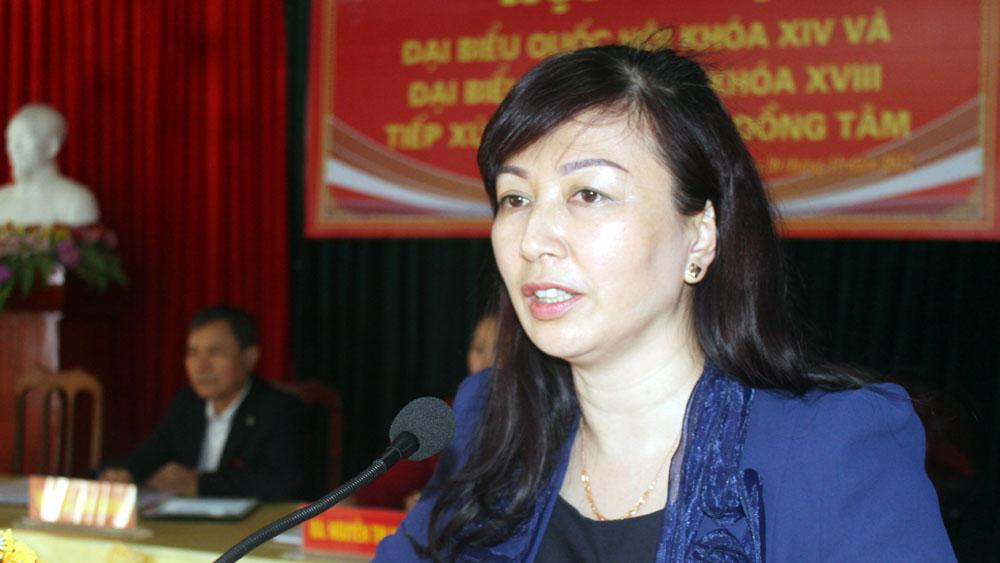 Đoàn đại biểu Quốc hội tiếp xúc cử tri huyện Yên Thế