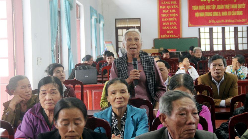 Đại biểu Quốc hội và HĐND tỉnh Bắc Giang tiếp xúc cử tri Yên Thế