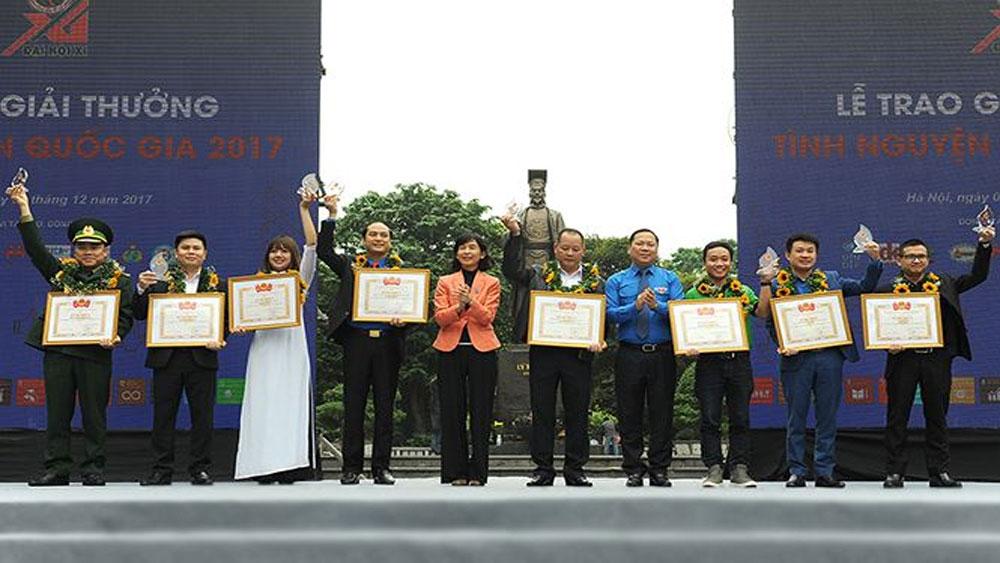 15 cá nhân, tổ chức nhận Giải thưởng Tình nguyện Quốc gia 2017