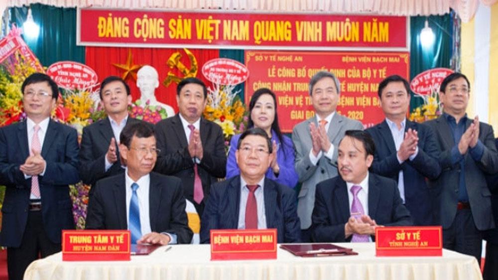 Trung tâm Y tế huyện Nam Đàn trở thành vệ tinh của Bệnh viện Bạch Mai