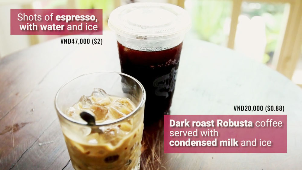 Vietnam's street food vs foreign fast food - Round 2: Ca phe sua da vs Americano