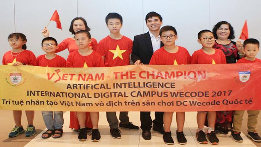 Học sinh Việt Nam đoạt giải vô địch Wecode