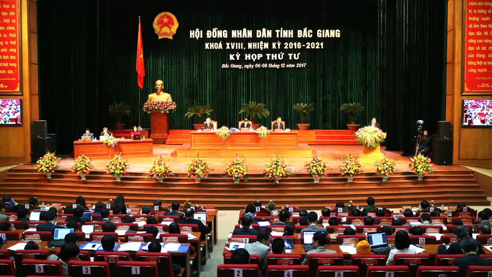 Khai mạc kỳ họp thứ tư, HĐND tỉnh Bắc Giang khóa XVIII