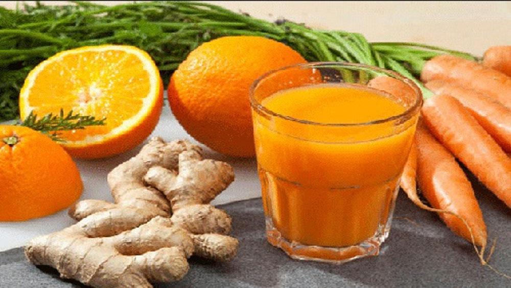 6 lợi ích bất ngờ của nước ép cà rốt gừng