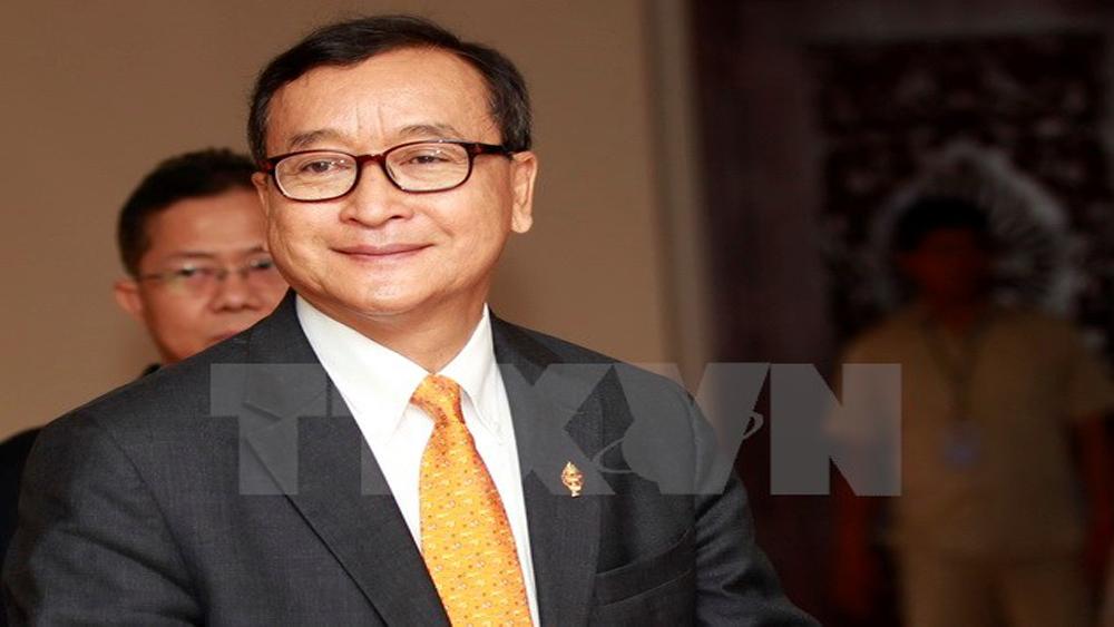Campuchia: Cựu thủ lĩnh đối lập Sam Rainsy bị buộc tội phản quốc