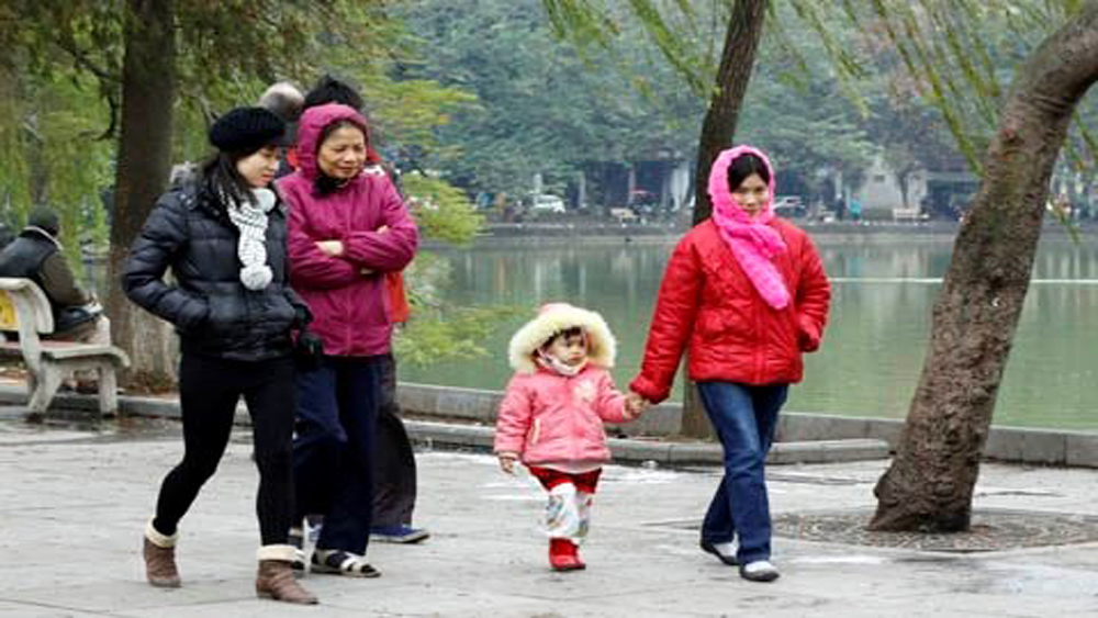 Tối 7-12, không khí lạnh tăng cường ảnh hưởng đến các tỉnh miền Bắc