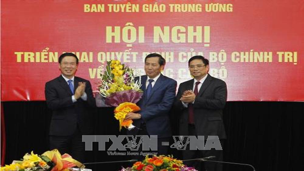 Đồng chí Thuận Hữu kiêm giữ chức Phó trưởng Ban Tuyên giáo Trung ương