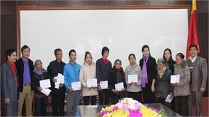 Hỗ trợ đột xuất cho hộ nghèo huyện Việt Yên