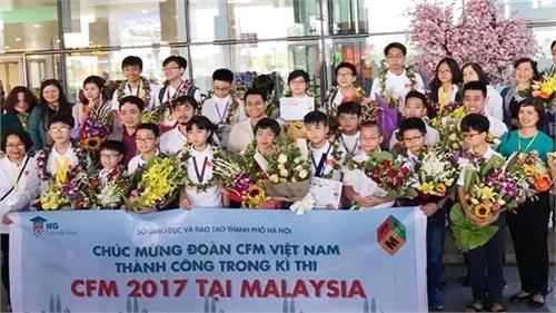 """Việt Nam đạt thành tích cao tại  kỳ thi """"Thử thách nhà Toán học tương lai"""""""