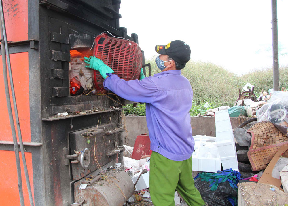 Khai thác, hiệu quả, lò đốt rác