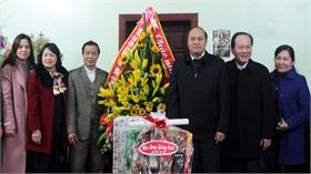Chủ tịch UBND tỉnh Nguyễn Văn Linh chúc mừng giáo xứ Ngọ Xá (Hiệp Hòa) nhân dịp Giáng sinh