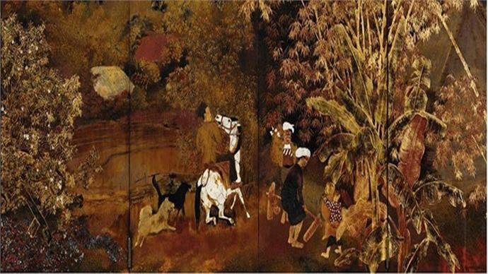 Vietnamese paintings displayed at China Art Museum