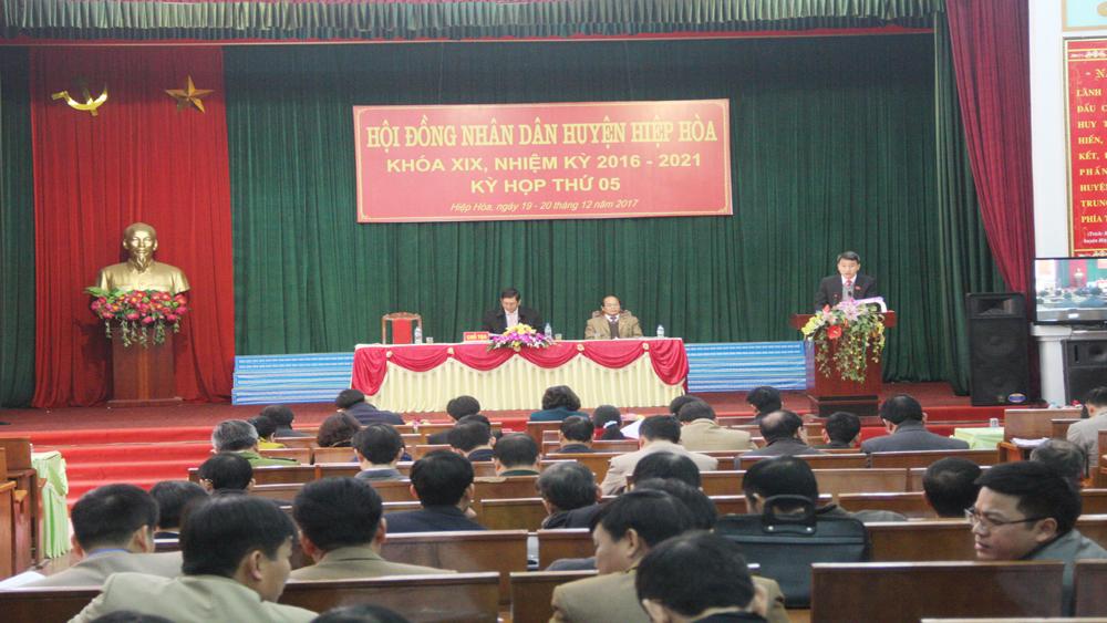 Hiệp Hòa, kỳ họp thứ 5, HĐND