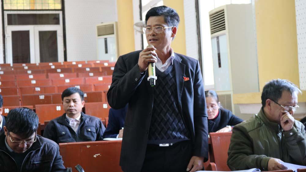 kỳ họp, HĐND huyện Lục Nam, thảo luận, chất vấn