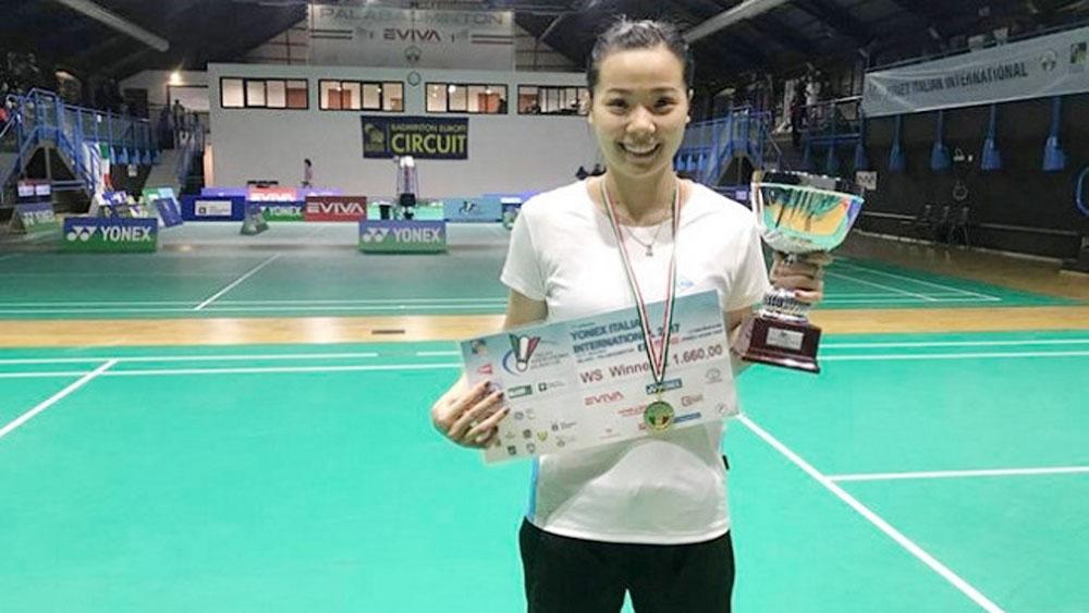 Vietnamese shuttler wins Italian international tournament