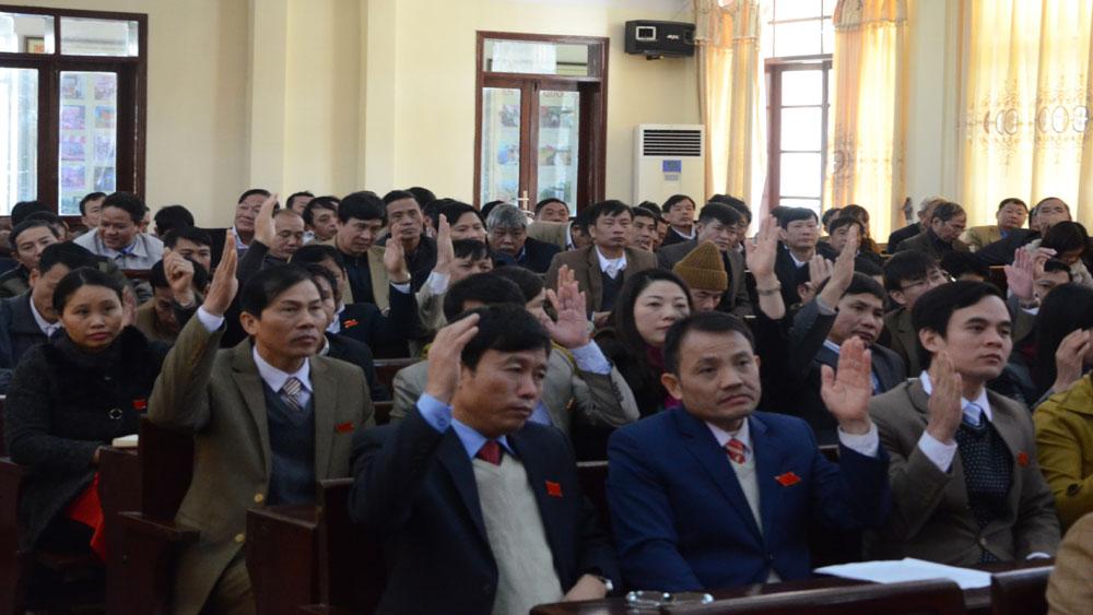 Kỳ họp thứ 7, HĐND huyện Yên Dũng thông qua 9 Nghị quyết