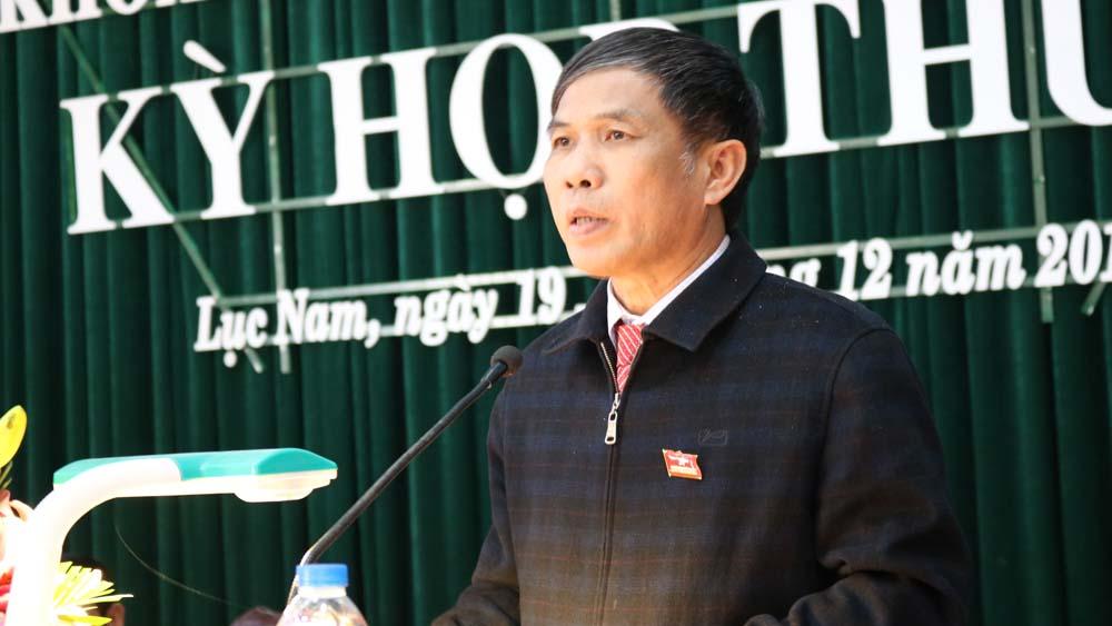 Bế mạc, kỳ họp thứ năm, HĐND huyện Lục Nam, khóa XIX