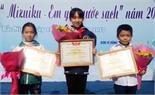 """Cuộc thi thiếu nhi vẽ tranh """"Mizuiku - Em yêu nước sạch"""": Bắc Giang có 5 giải"""