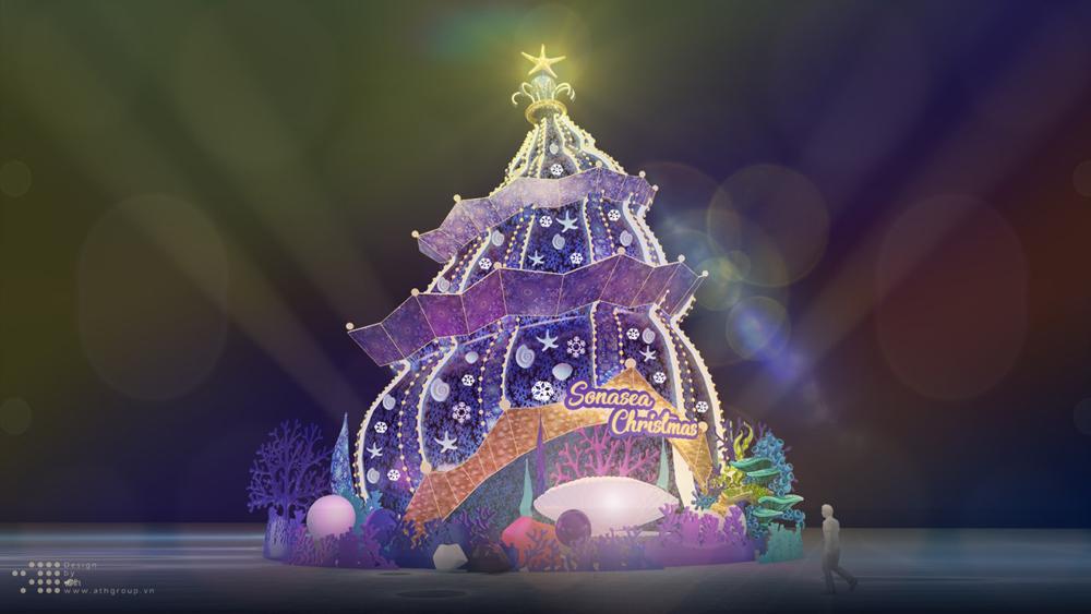 cây thông Noel, độc và lạ, Việt Nam, thu hút du khách, Khách sạn New World, TP Hồ Chí Minh