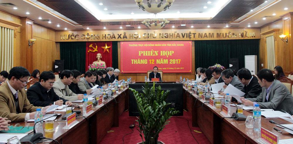 Bắc Giang, Thường trực,  HĐND tỉnh , họp thường kỳ,  tháng 12