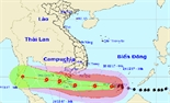Bão số 16 gây mưa bão và sóng lớn ở Trường Sa
