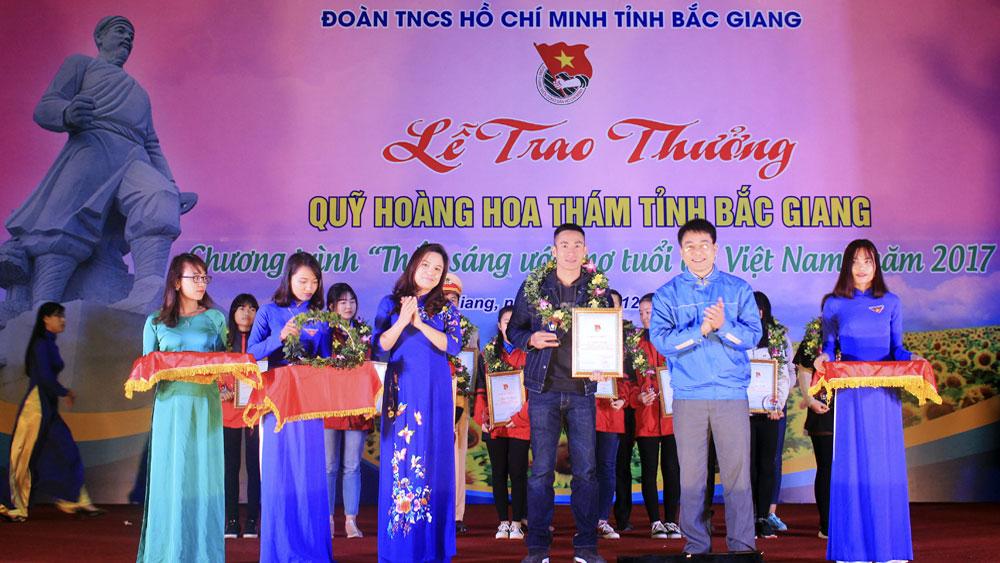 Trao thưởng Quỹ Hoàng Hoa Thám cho 17 đoàn viên thanh niên tiêu biểu