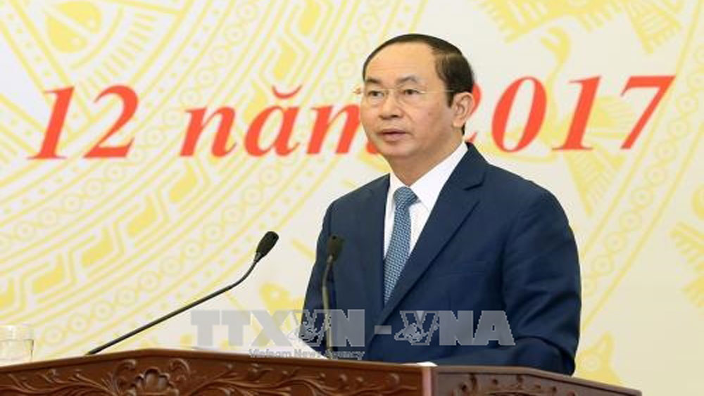 President praises judiciary sector and sets out goals for 2018