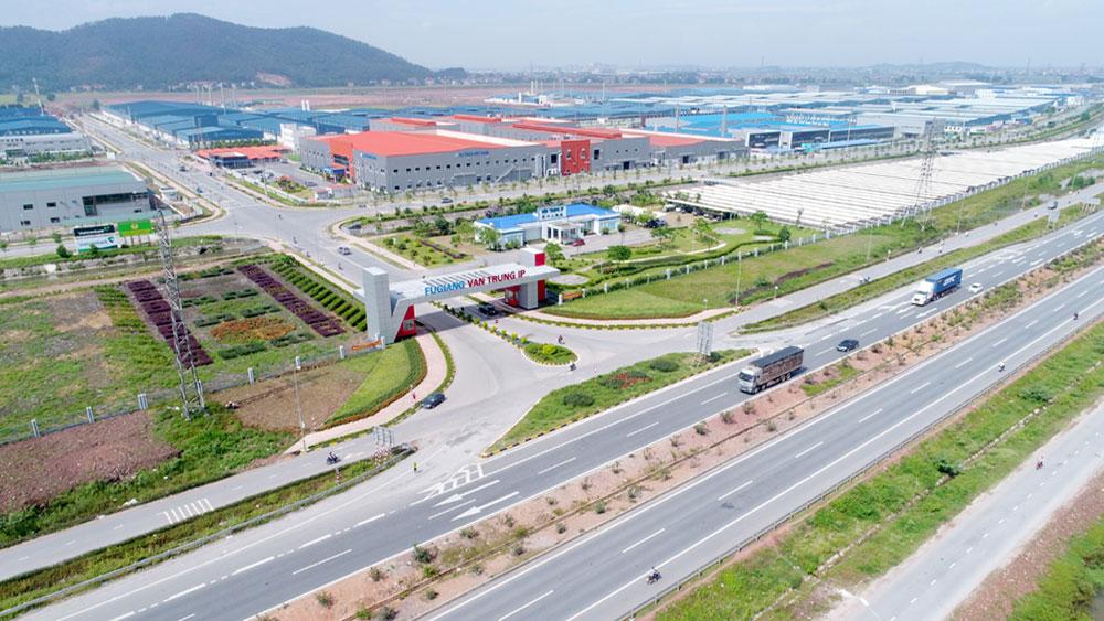 KCN Vân Trung (Việt Yên).Ảnh: Việt Hưng