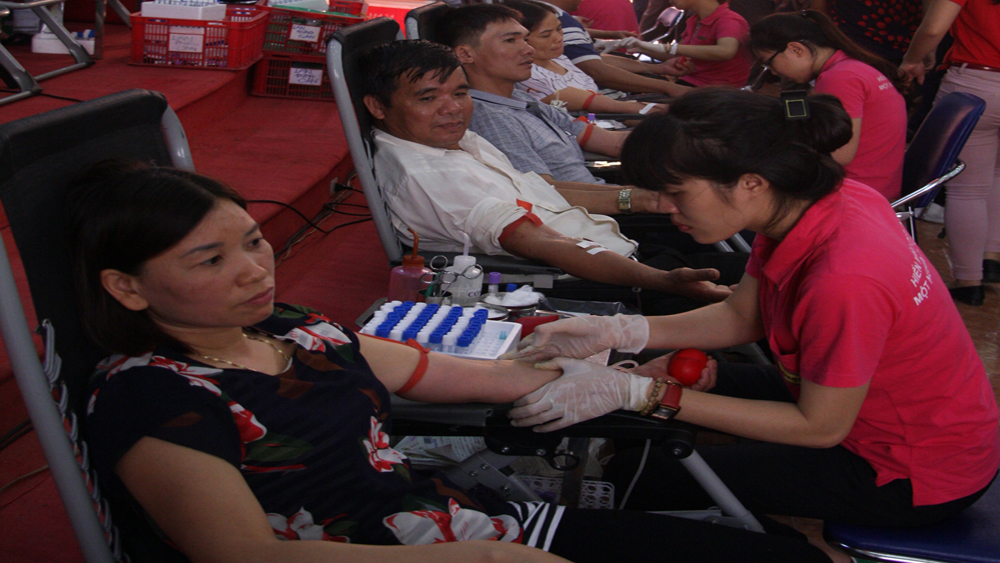 Việt Yên, hiến máu