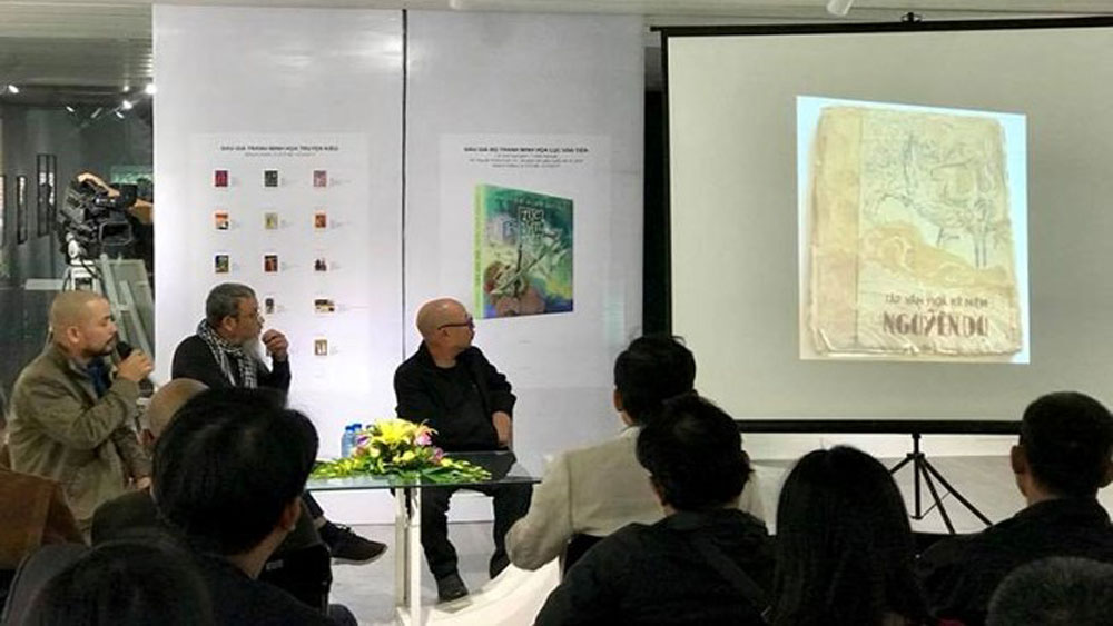 'Tale of Kieu' lacquer painting auctioned for 83,000 USD