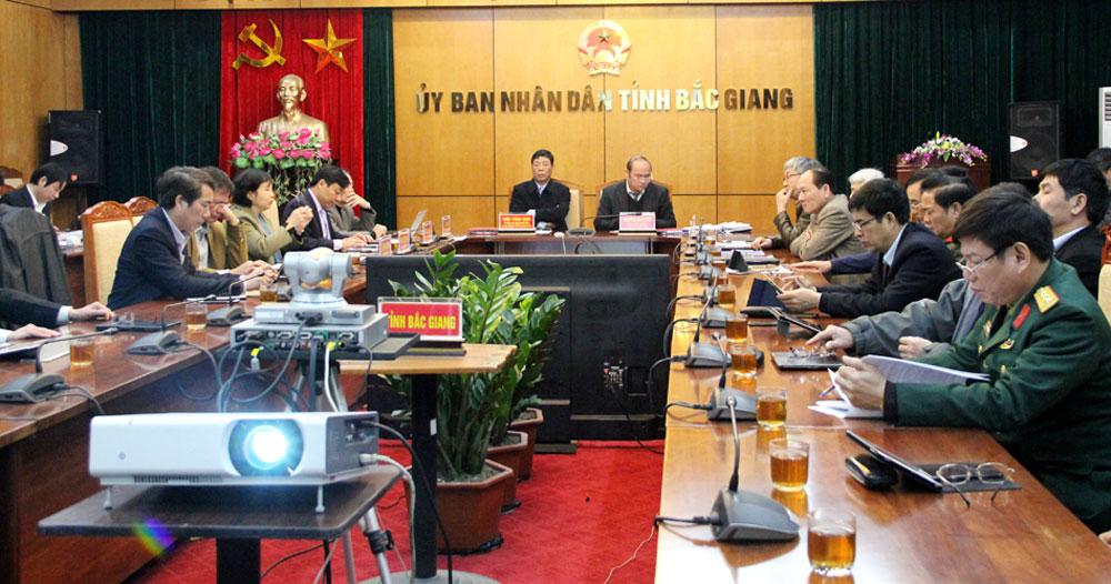 Bắc Giang, Hội nghị,  trực tuyến, Chính phủ triển khai,  Nghị quyết , Quốc hội