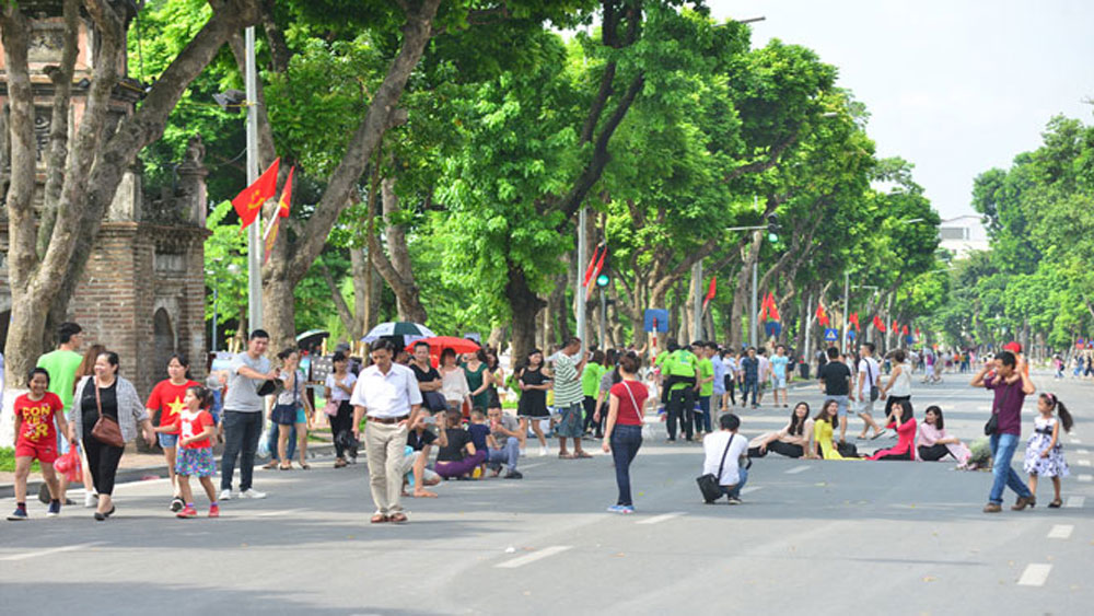 Hà Nội: Kéo dài thời gian hoạt động phố đi bộ dịp Tết Dương lịch 2018