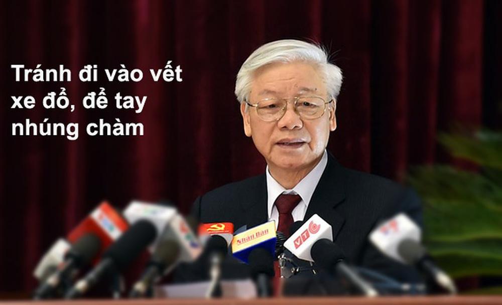 Chống tham nhũng, lãnh đạo Đảng, Tổng Bí thư, Chủ tịch nước, Thủ tướng, Chủ tịch Quốc hội