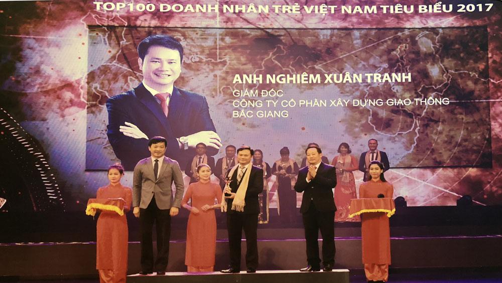 Bắc Giang: 2 người vào Top 100 doanh nhân trẻ Việt Nam tiêu biểu 2017