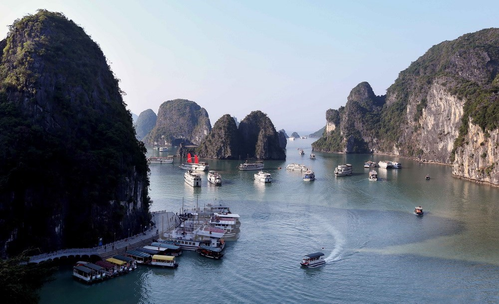 Ha Long Bay, World Natural Heritage Site, most famous site, natural wonders, breathtaking caves, legend island