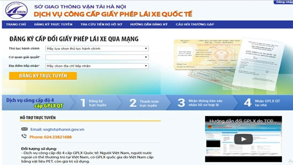 Hanoi begins issuing international driving licence online