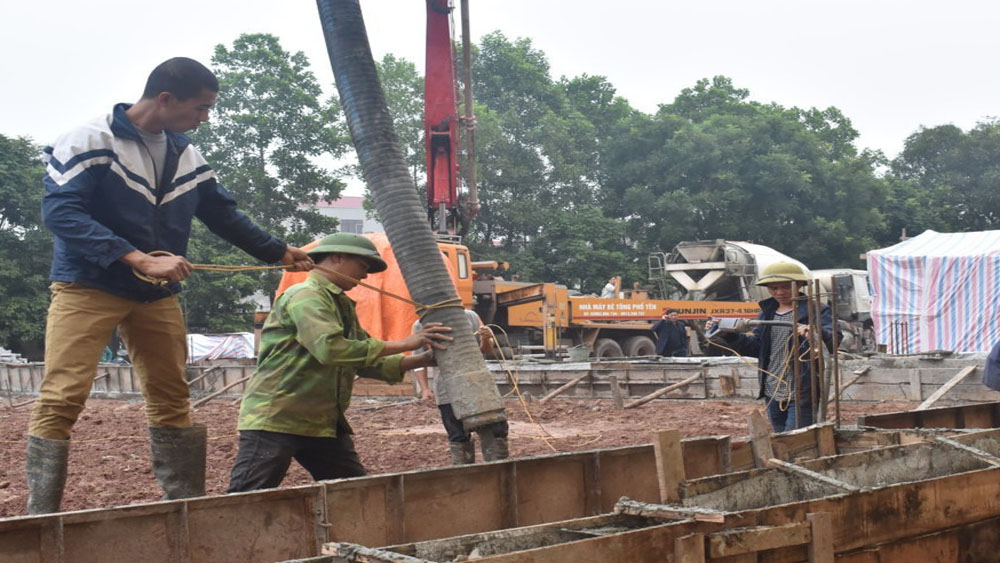 Khởi công xây dựng nhà đa năng Trường THCS thị trấn Nhã Nam