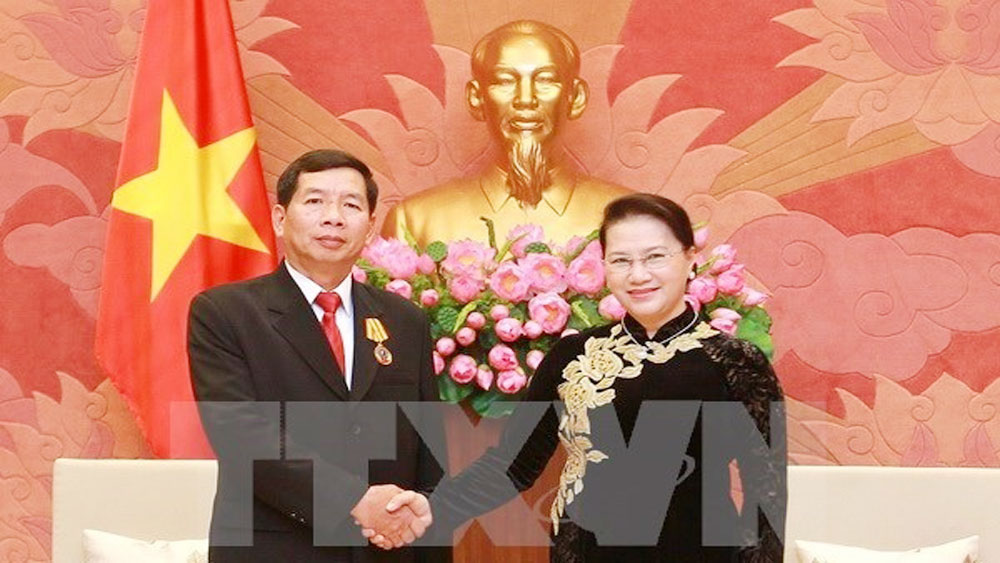 NA Chairwoman urges for deeper Vietnam-Laos judicial cooperation