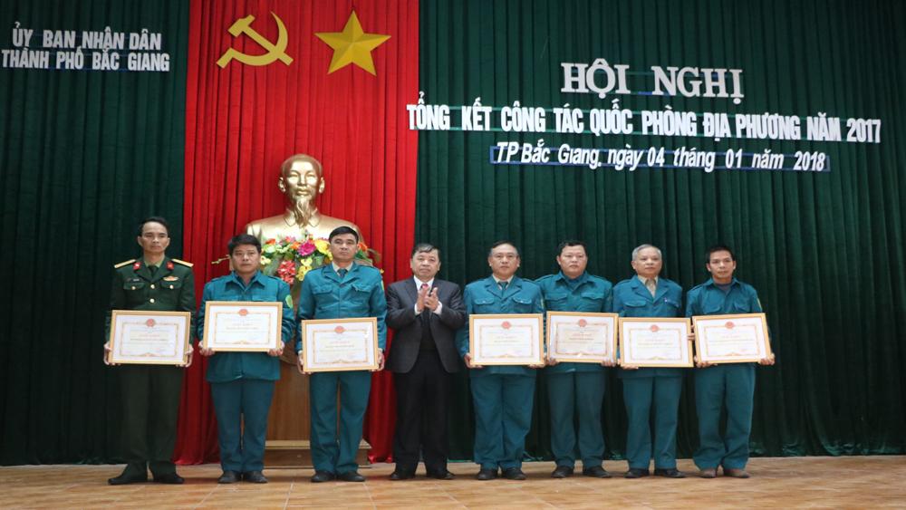 TP Bắc Giang: Đề ra 7 nhiệm vụ trọng tâm trong công tác quốc phòng địa phương