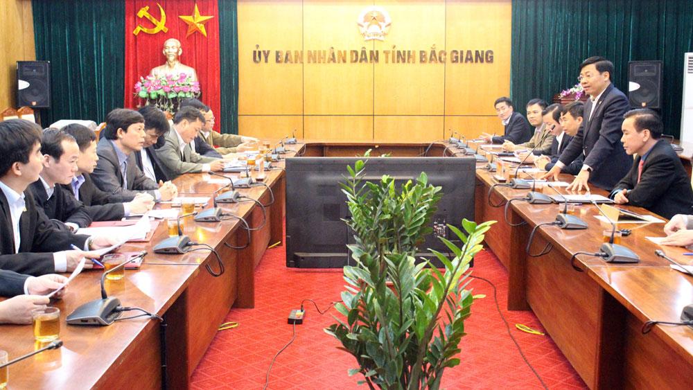 Phó Chủ tịch UBND tỉnh Bắc Giang Dương Văn Thái tiếp đoàn công tác tỉnh Phú Thọ