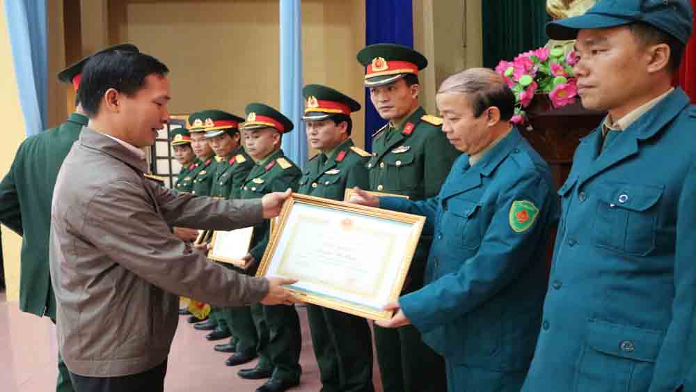 Lục Nam: Tổng kết công tác quốc phòng địa phương; triển khai nhiệm vụ năm 2018