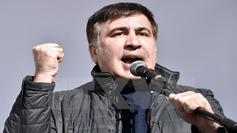 Gruzia, cựu Tổng thống, Saakashvili, kết án, vắng mặt, 3 năm tù