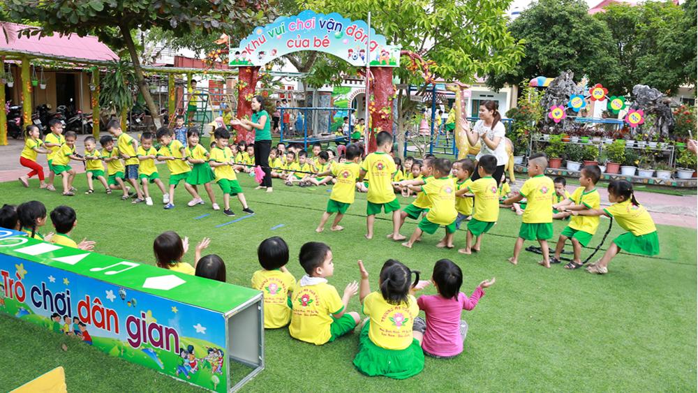 Điểm sáng Trường Mầm non Hoa Hồng về môi trường giáo dục thân thiện