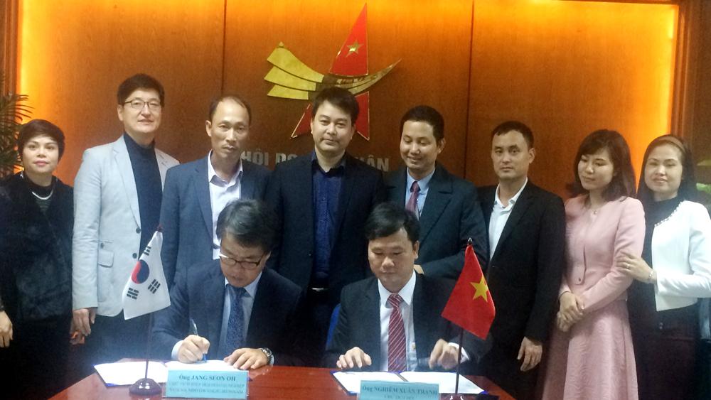 Doanh nghiệp Bắc Giang-Hàn Quốc: Ký thỏa thuận hợp tác phát triển